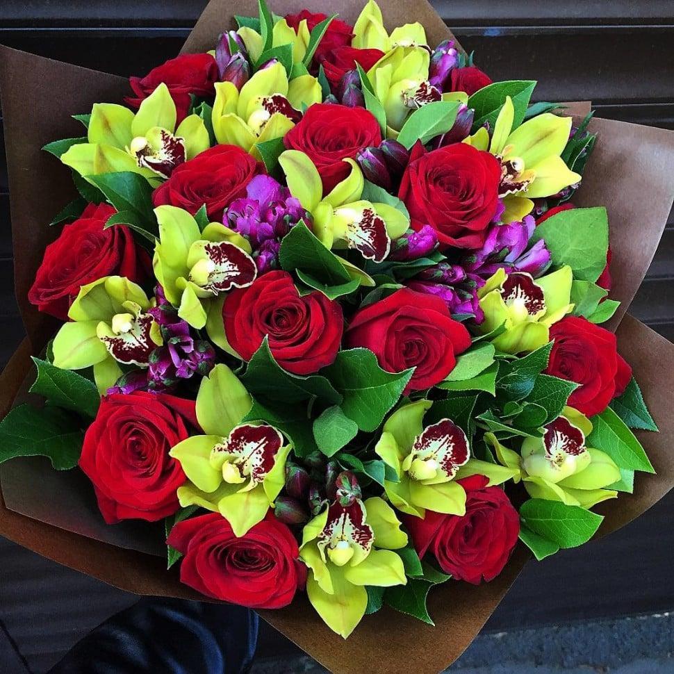 Цветов городе, распространенные букеты цветов фото